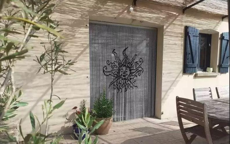 rideau porte